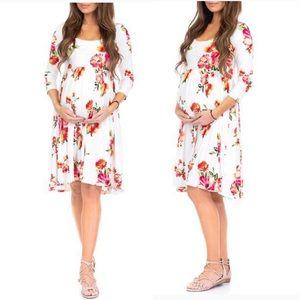 🆕 Women's Ruched Babydoll Maternity Dress